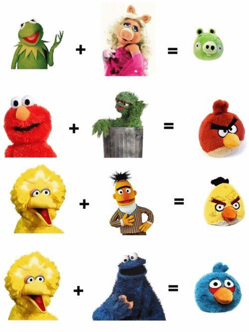 os muppets são pais dos angry birds